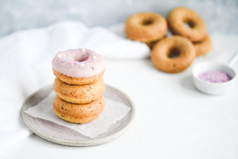 Pink Vegan Donuts